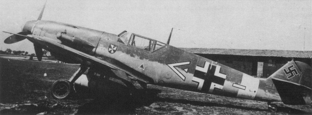 Messerschmitt Bf-109 F-4/trop WNr. 8665 Hptm. Krahl II./JG53 Сицилия апрель 1942 г.